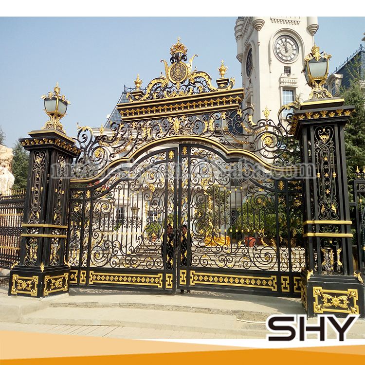 wrought iron main gate colors