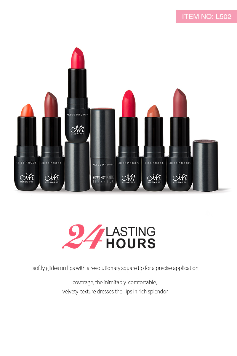Menow L502 Cosmetics Rouge High Quality Matte LipStick