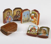 HUANAN handmade Little Wooden Photo Frame with Jesus picture