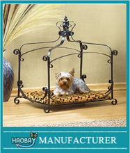 Royal Princess Iron scroll Canopy Dog Cat Pet Bed