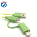 Elastic noodle 2 in1 usb cable for iphone for android charge and sync data transfer