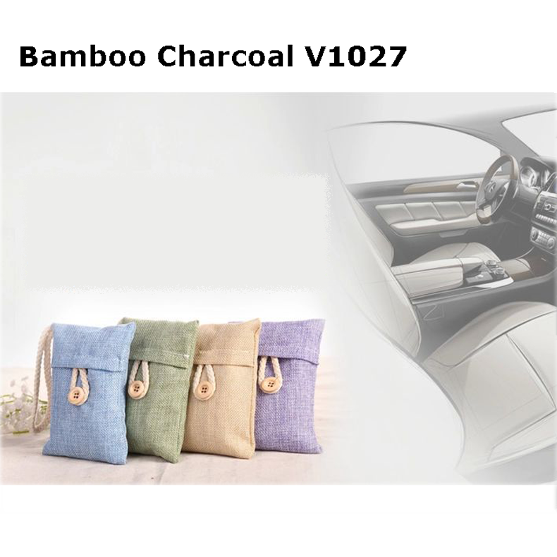 100g Natural Activated Bamboo Odor Absorbing Charcoal Air Purifying Bags Air Cleaner bamboo Charcoal Bag V1027 For Cars