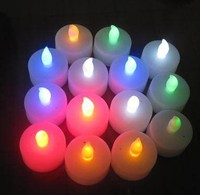 Soft Flameless LED Candle Tealight,,Festival & Parties favor multi-colored flamless led flickering LED Candle made in china