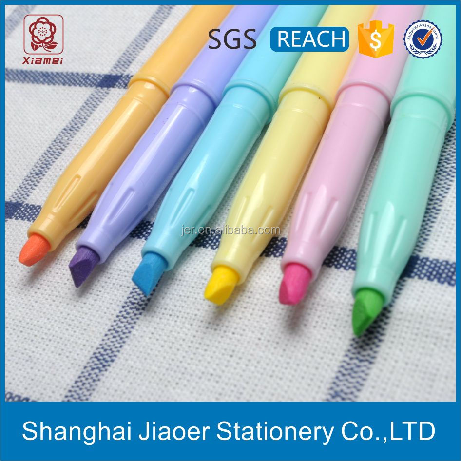 Office School Supplies Dry Highlighter Erasable