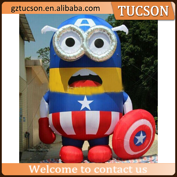 customized size inflatable minion inflatable cartoon character for sale