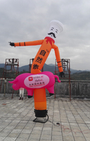 Custom logo pig inflatable air dancer for event