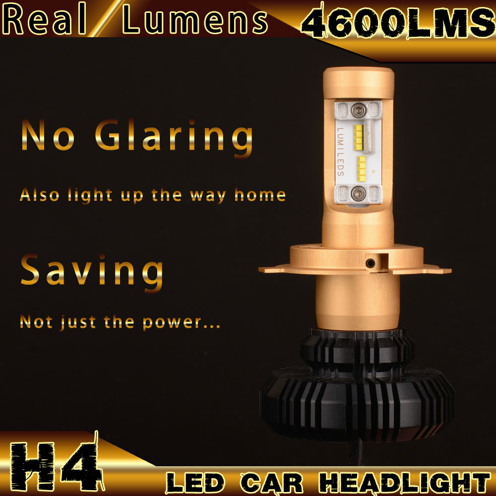 2016 HOT SELL IN AMERICA Real Lumens 42W 4000lms H4 LED CAR HEADLIGHT With PHILIP Zes chips No Glaring Kit LED