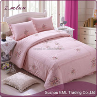 Hand embroidery design bed sheet wholesale 100% cotton patch work bed sheets