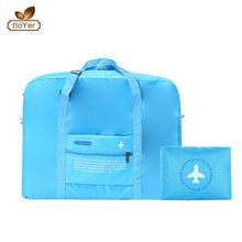 China factory best foldable duffle bag portable blue sky travel luggage bag
