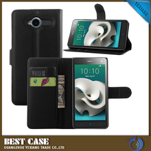 Wholesale price mobile phone leather flip case for zte blade l3 back cover made in china