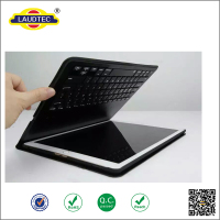 New high quality leather case Black Wireless Keyboard with Bluetooth for iPad Pro