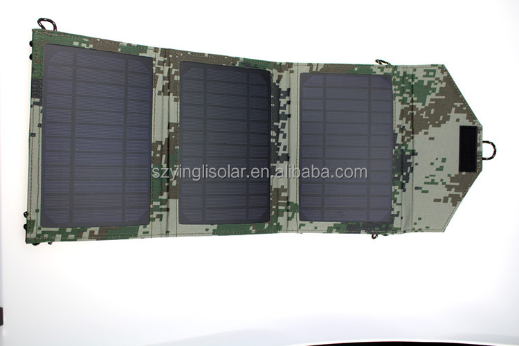 High quantity 10W/18V Portable Folding and Flexible Solar Charger, Solar Panel Charger for Outdoor