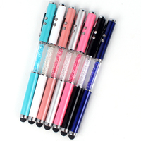 christmas promotional stylus 4 in 1 led pen with light high quality red laser led pen