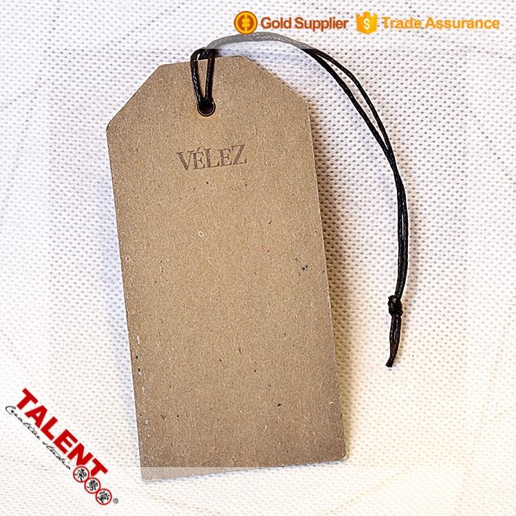 Custom printed kraft paper hang tags