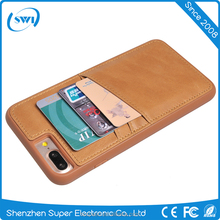 High quality & best price clip leather case with card slots leather case for iPhone