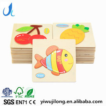 3D puzzle wooden toy cartoon animal traffic puzzle baby educational toys