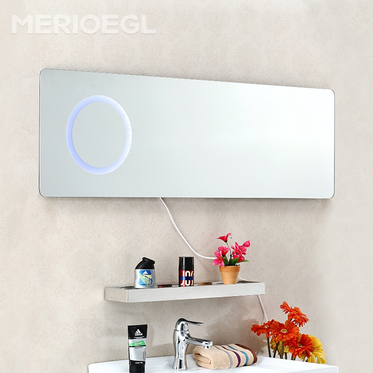 Custom CE IP44 Illuminated cosmetic decoration led wall mounted bathroom mirror