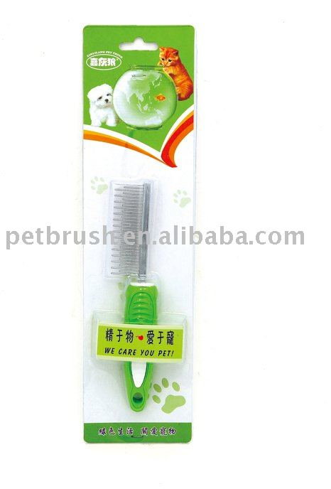 pet grooming tools/steel handle pet comb