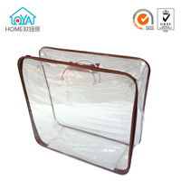 Clear packaging plastic quilt bags for bedding