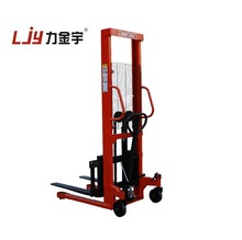 China new forklift 1600mm 2000kg Pallet stacker Manual Hand Hydraulic Stacker