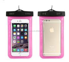 PVC transparent touchable underwater waterproof bag,Universal mobile phone waterproof case for iphone 7
