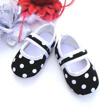 KP-A7 Fashion boutique polka dot baby soft hand shoes IN STOCK ( NO MOQ)
