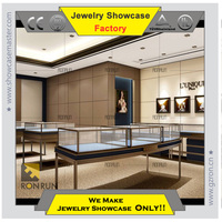 Retangle shape jewelry stainless steel showcase with LED light ,tailored for you!