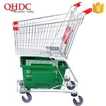 shopping mall unfolding shopping mobile trolley cart 60L for sale