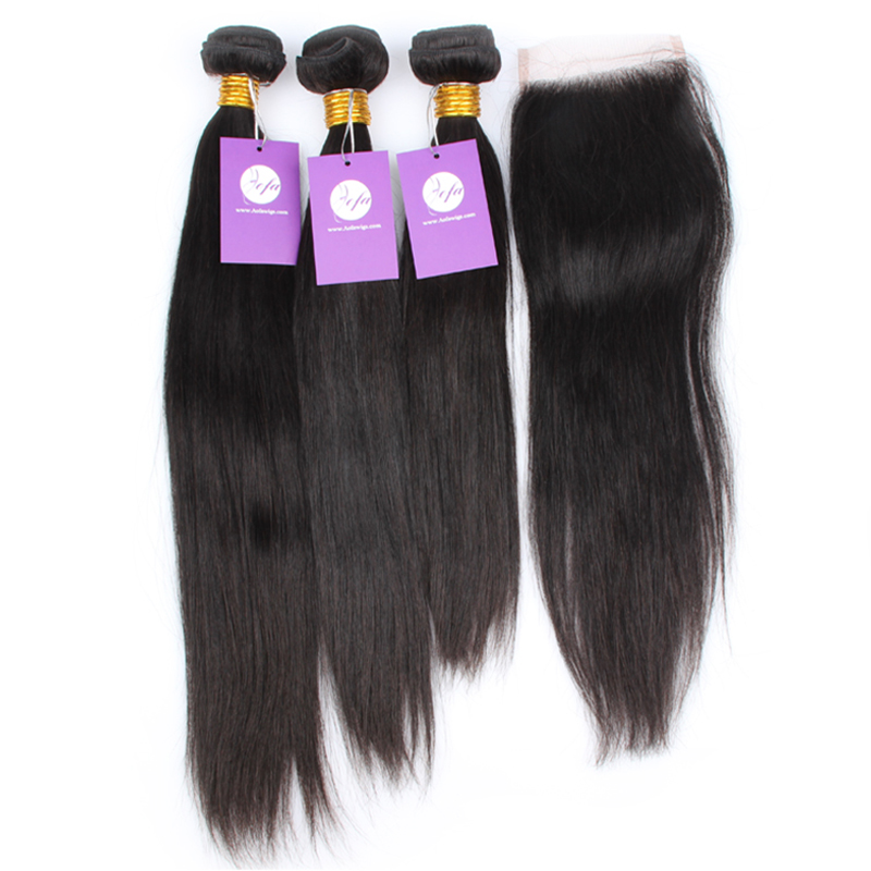 100% natural hair top quality can be dyed n bleached 4 bundles lot brazilian straight virgin hair