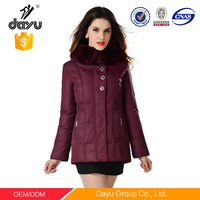 Winter Season 100% Polyester Shell Material woman's waterproof high quality jackets trench coat belt replacement