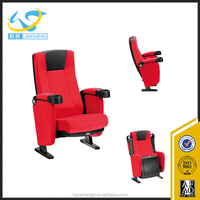 cheap price home 3d used cinema chairs for sale / theater seating with cup holder
