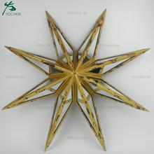 Christmas Gold Mirrored Star Wall Decoration