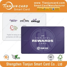 Eco-friendly manufacturer pvc/plastic scratch off gift card