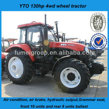 YTO 6 cylinder engine 130hp tractor for sale