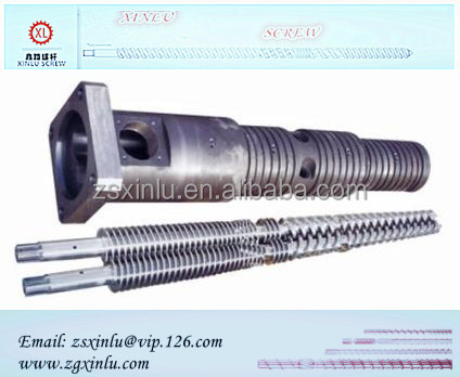 specil Twin coinical screw barrel for extruder machinery