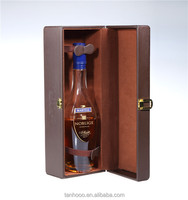 Cardboard Leather i Bottle Stand Leather Wine Bottle Gift Box