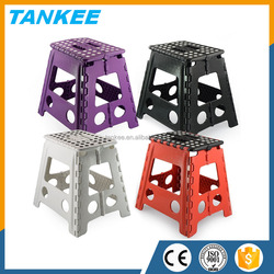 32CM Plastic Folding Step Stool, Portable Small Folding Chair, Outdoor Camping Foldable Stool