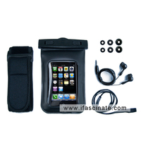 sport pouch with earphone and armband