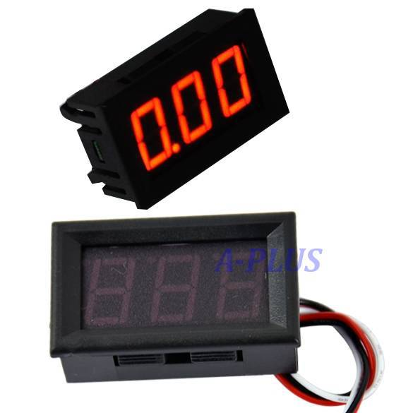 Top Sale New Voltage Meter Red LED Panel Volt Meter Mini Digital Voltmeter DC 0-30V TK0602