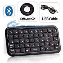 Hot sale Mini Bluetooth Wireless Keyboard Case for iPad, for iPhone 4s