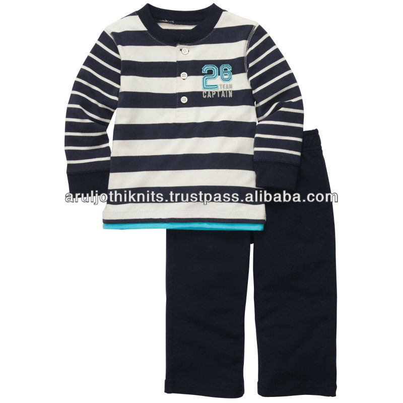 100 % COTTON KNITTED BOYS CLOTHING SET