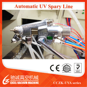CE Certificated professional jewelry vacuum coating machine for Fast Curing UV Oven Vacuum Coating Plant