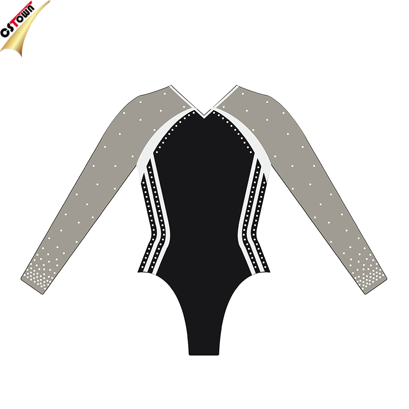 Sexy Adult Mystique Lycra Professional Performance Rhinestone Gymnastic Leotards