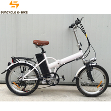 Suncycle front fork suspension folding electric bike fat tire e mountain bicycle