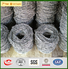 high quality low carbon galvanized barbed wire (manufactirer)