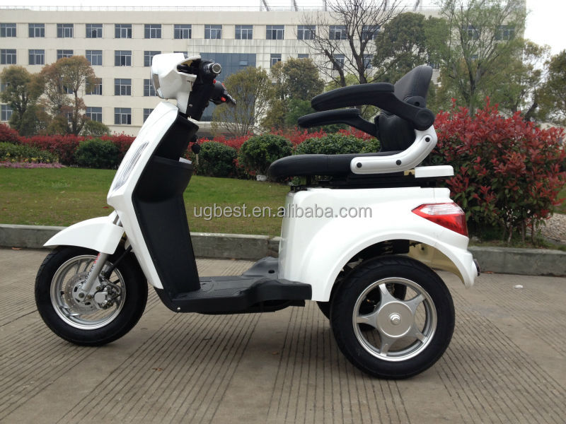 UGBEST Tres EEC milky three wheel electrical scooter for children and old people