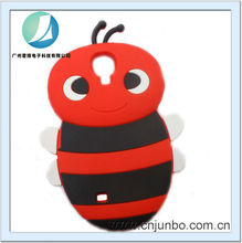 New products hot sales 3D cartoon Bee silicon phone case for Samaung Galaxy S4