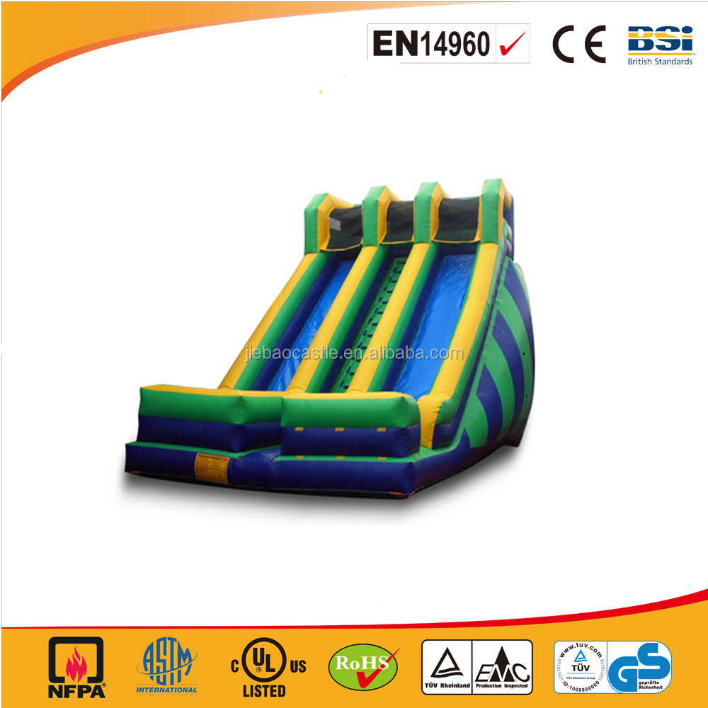 2017 giant 2 slips and 1 stair inflatable slide for adult,large big inflatable slide for outdoor use
