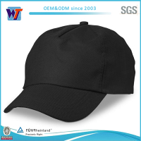 Flat brim leather patch 5 panels cap/custom 5 panel hats wholesale