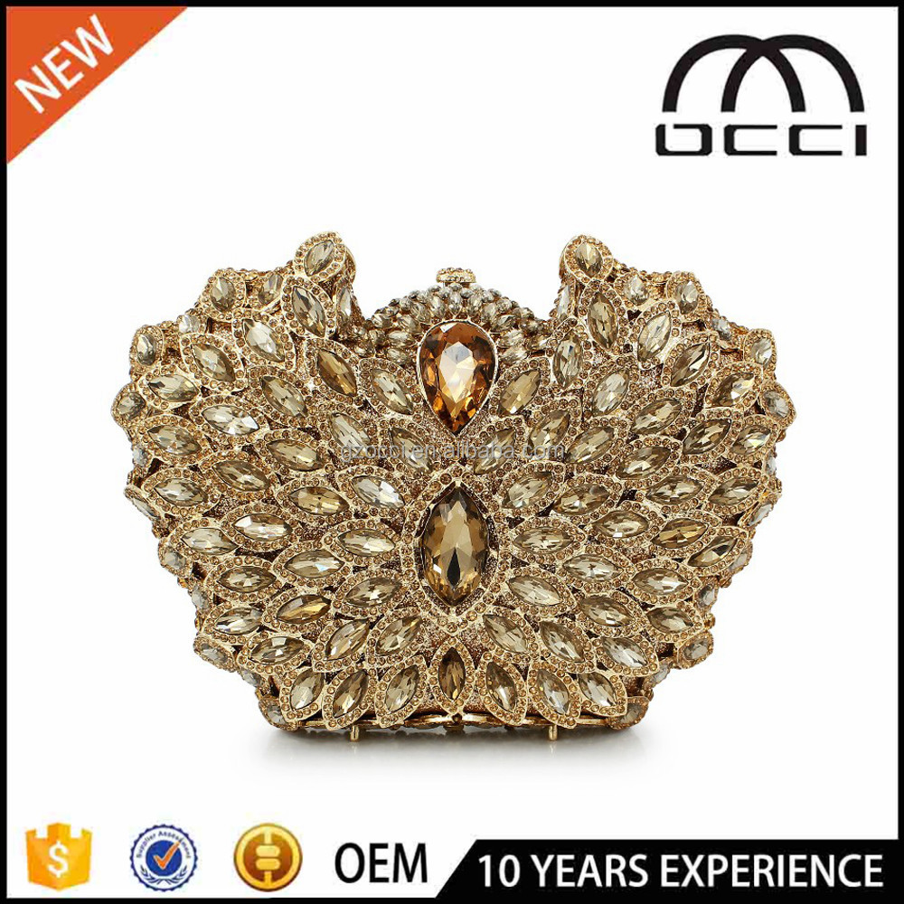 designer evening crystal bags elegant lady's wedding clutches and purse SC2557